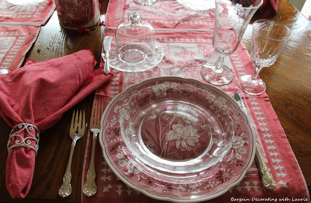 Toile De Jouy Tablescape-Bargain Decorating with Laurie