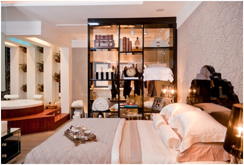 Matrimonial bedroom elegant contemporary suite do casal for Matrimonial bedroom design