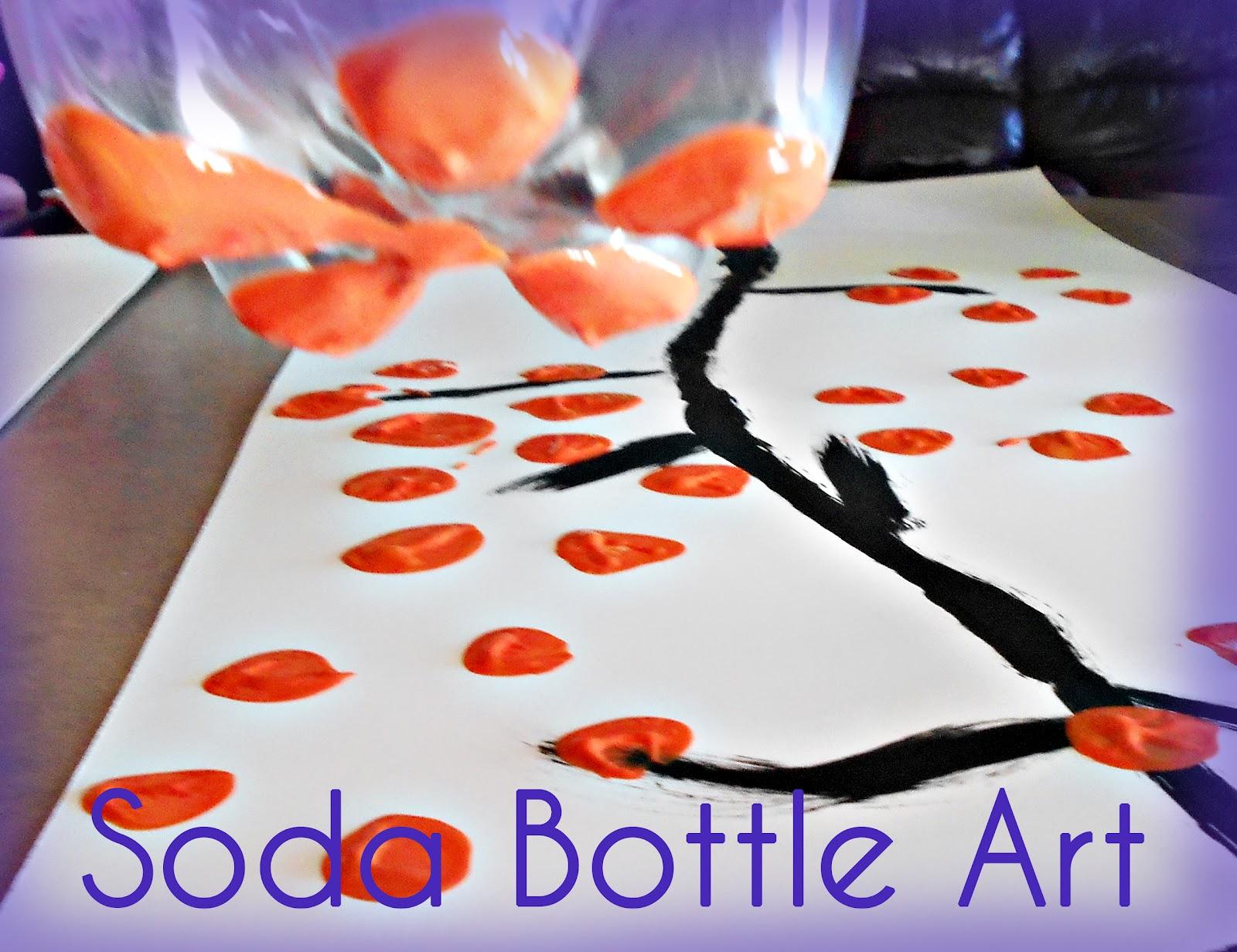 heaps of laundry soda bottle art