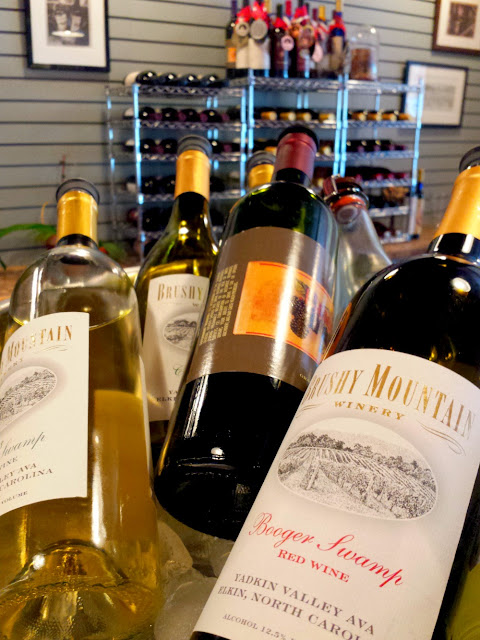 Wines at Brushy Mountain Vineyards are named after historic landmarks and places in the area.