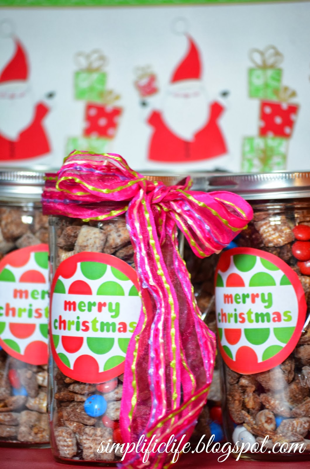 mason jars filled with puppy chow make the perfect gift for family friends coworkers or any sweet lover in your life its never too early to spread some - Christmas Puppy Chow