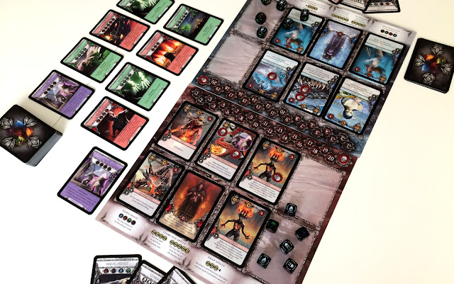 Heroes Board game 2 player set up