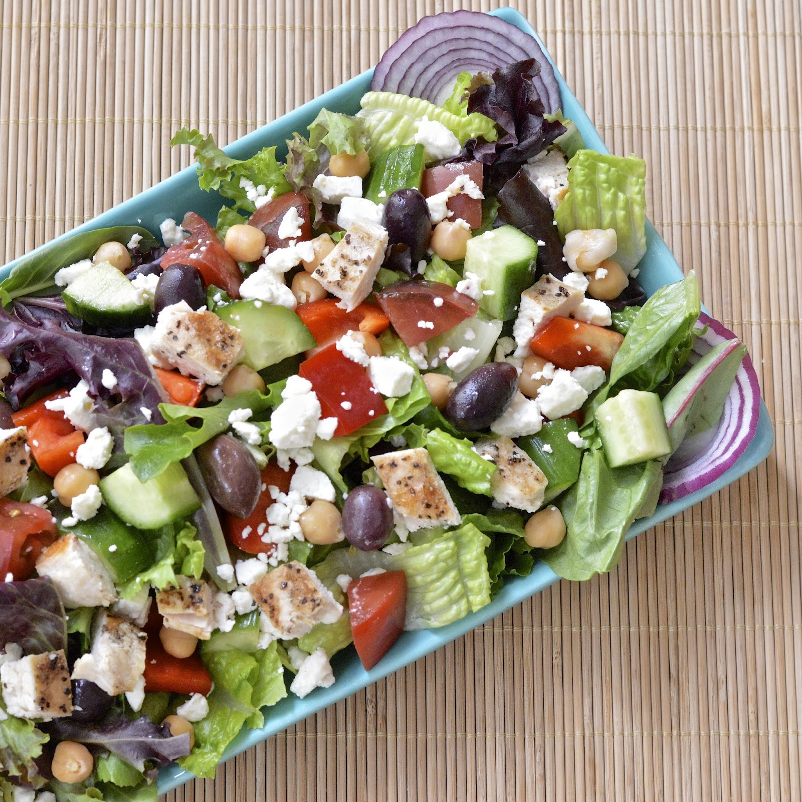 Greek Salad with Tzatziki Dressing | Virtually Homemade: Loaded Greek ...