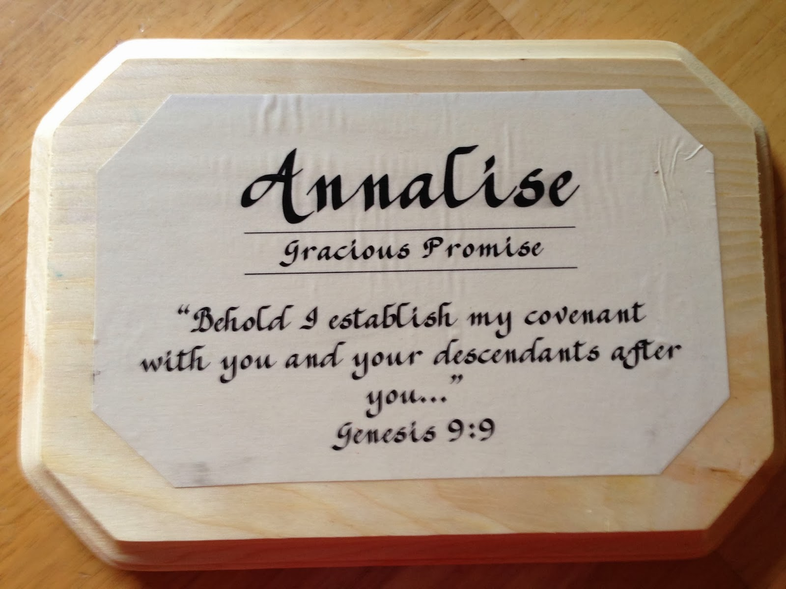 Plaques with name meanings - Craft Name Plaques