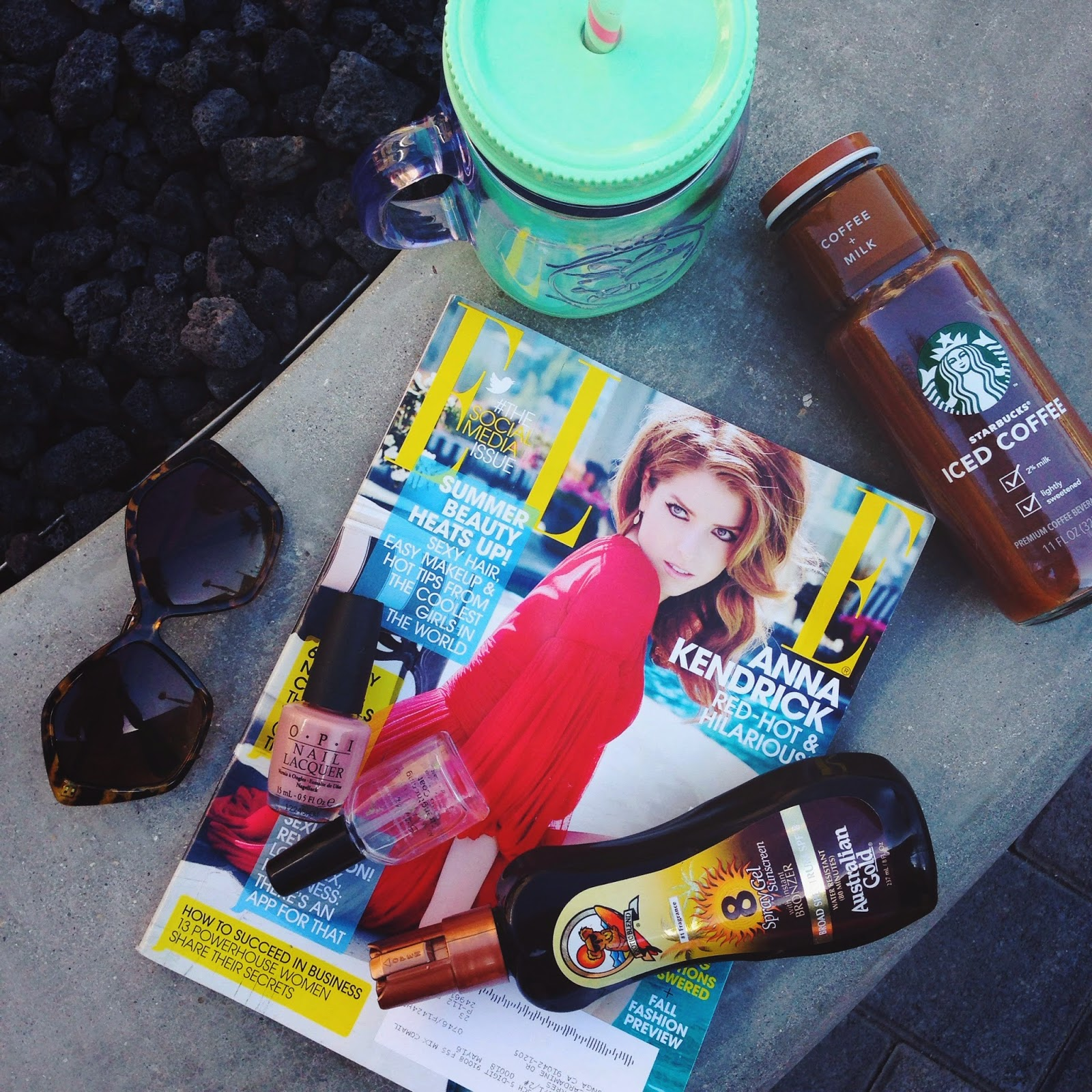 poolside essentials, starbucks iced coffee, summer, what to bring to the pool