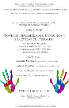 """PANEL """"Jóvenes, Sexualidades, Derechos y Prácticas Culturales"""""""