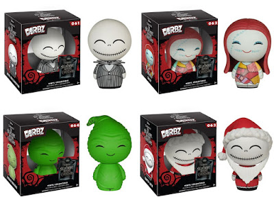 The Nightmare Before Christmas Dorbz Vinyl Figures Series by Funko x Vinyl Sugar - Jack Skellington, Sally, Oogie Boogie & Santa Jack Skellington