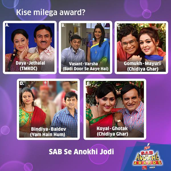 Winners List Sab Ke Anokhe Awards 2015 |Videos|Timing |Pics |Host|Nominee