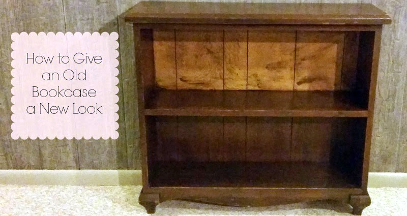 Crafty Allie Guest Post DIY Bookcase Makeover - Old book case