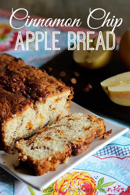 Layers of apple with a good dose of cinnamon are baked into this delicious, aromatic Cinnamon Chip Apple Bread.