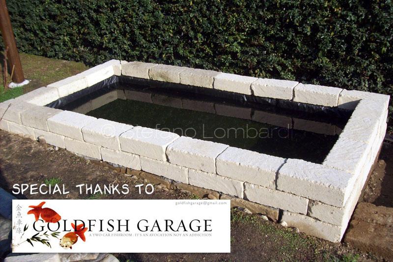Giardino Mattoni Tufo : Piccolo giardino dei sogni: nuova vasca 1200 lt