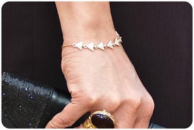Rocksbox - Slate Half Pave Triangles Bracelet - Erica Bunker DIY Style!
