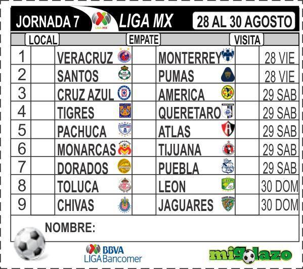 ... liga mx 28 al 30 agosto 2015 viernes 21 de agosto de 2015 migolazo mx