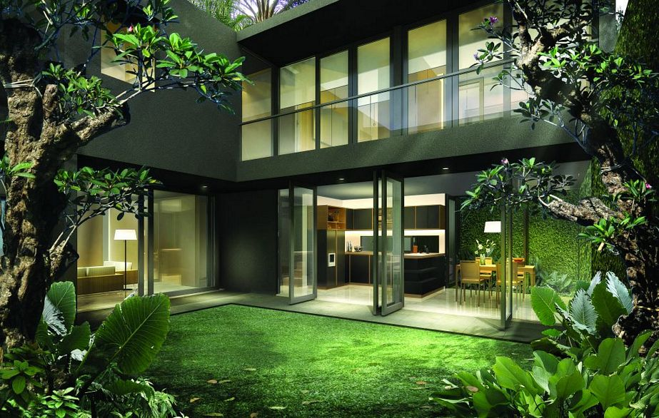 kreasi rumah bergaya modern tropis idaman
