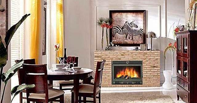 Decoraci n de comedor con chimenea salas y comedores - Como decorar un salon con chimenea ...