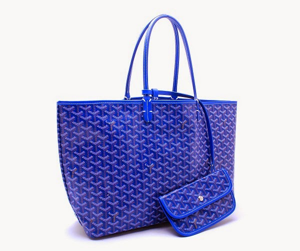 Blue Goyard Tote Bag
