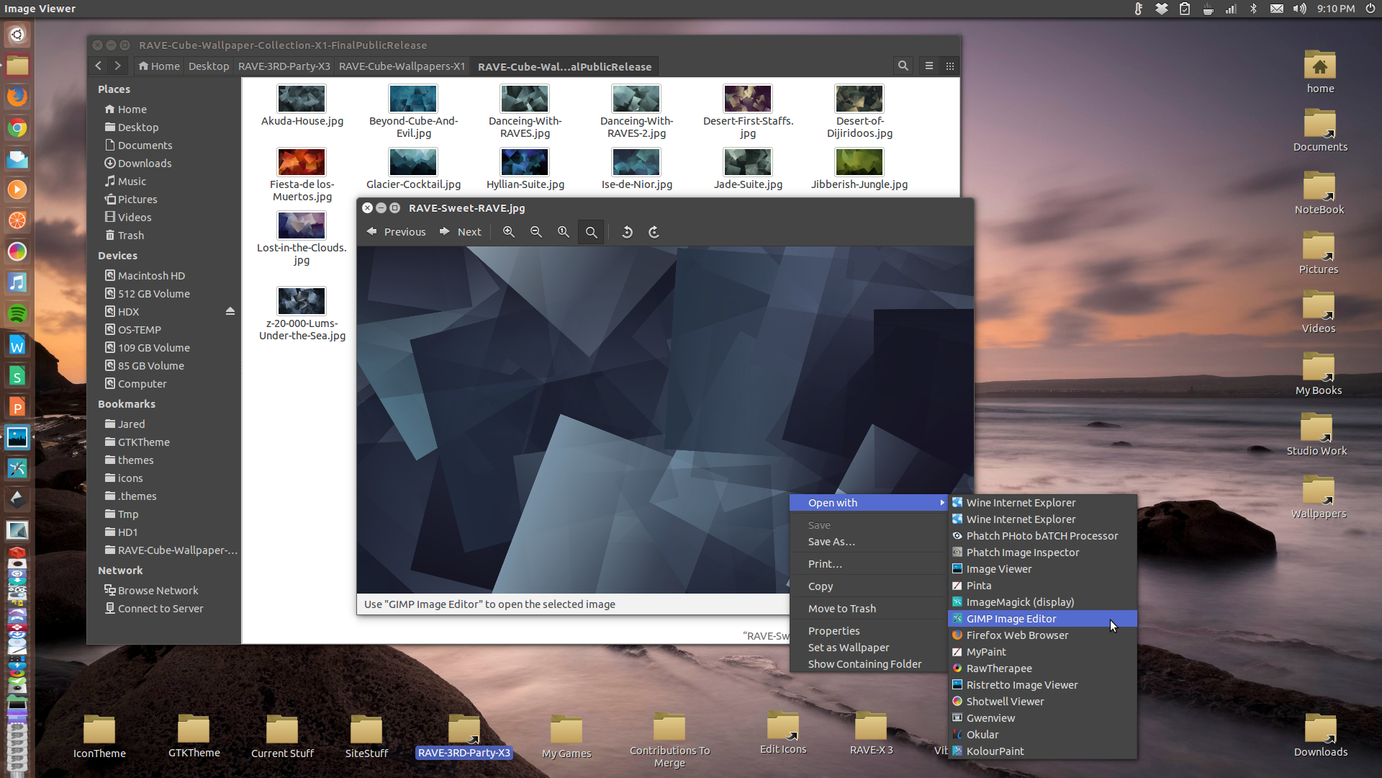 RAVEfinity: Ambiance & Radiance Flat Colors GTK Theme Suite