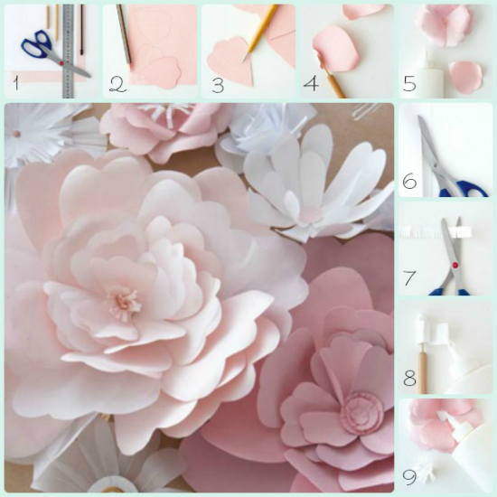 Fiestas and blog on pinterest - Como hacer flores ...