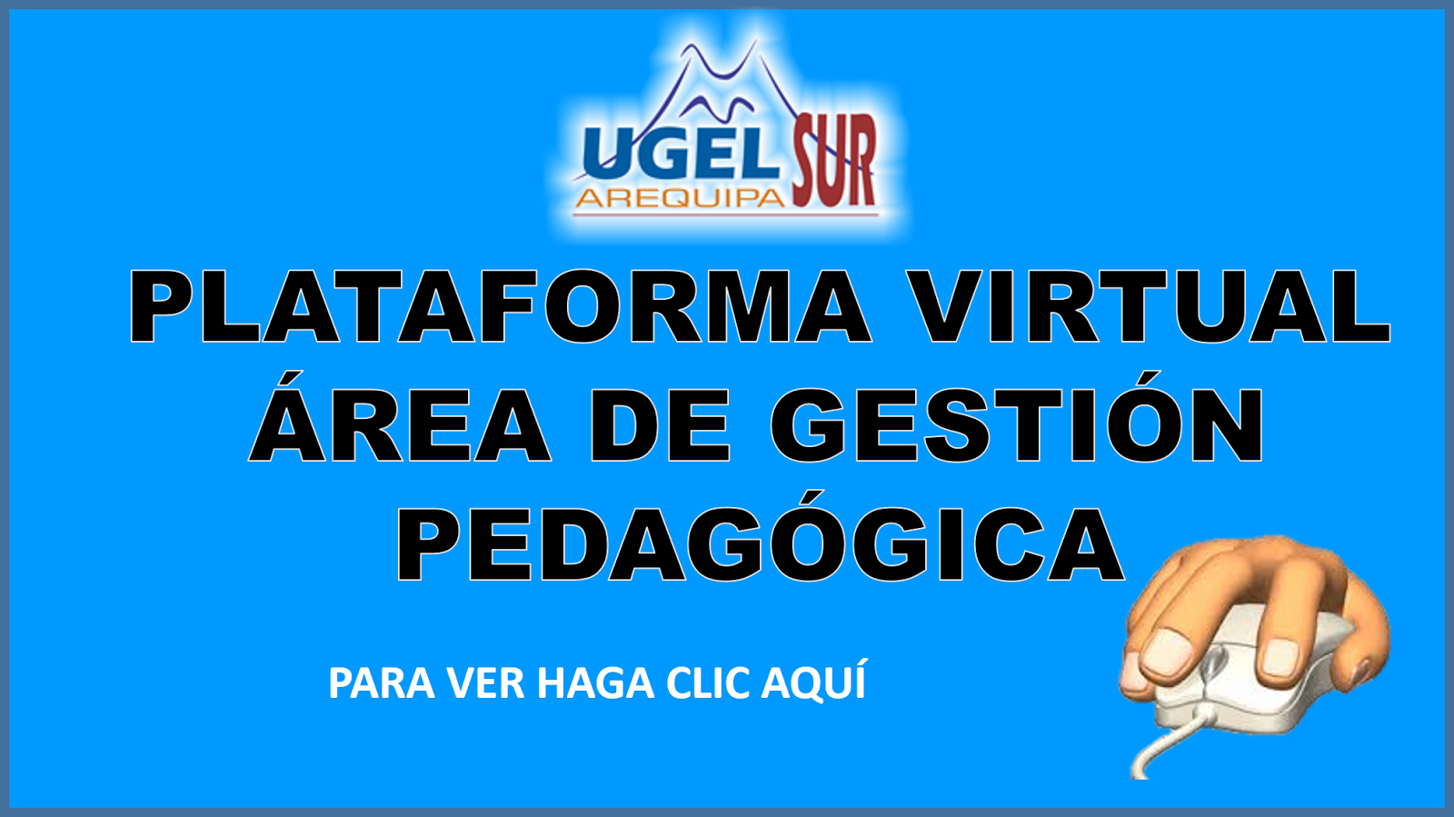 PLATAFORMA VIRTUAL ÁREA DE GESTIÓN PEDAGÓGICA