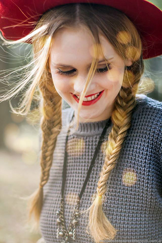 Moda invierno 2014 Skiva ropa de mujer, prendas tejidas.