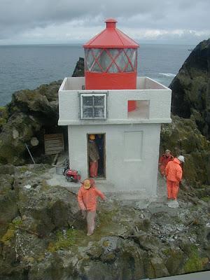 Faro de Thrídrangi Lighthouse Þrídrangar Islandia Iceland