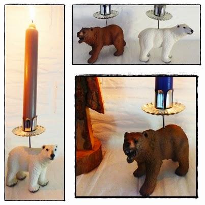 DIY Upcycling Kerzenhalter Kerzenständer aus Spielzeugtieren Schleichtieren
