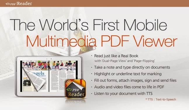ezPDF Reader - Multimedia PDF android apk - Screenshoot