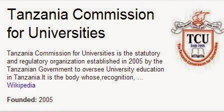 contact details for tcu tanzania commission for universities rh joelnjeza blogspot com
