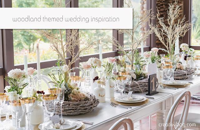 woodland themed wedding inspiration | Creative Bag