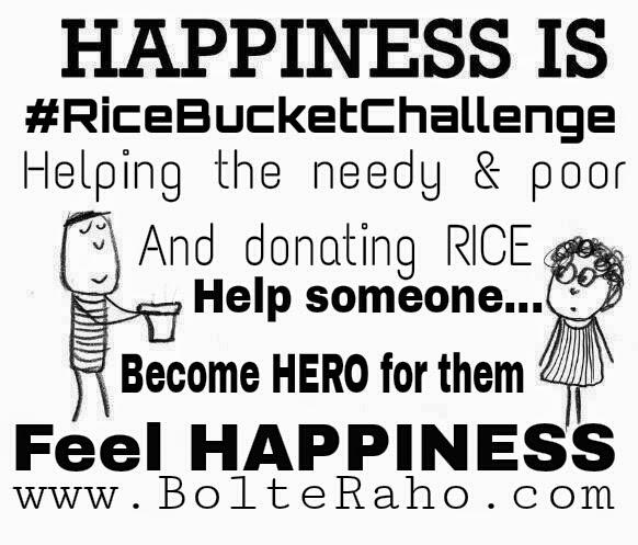 #RiceBucketChallenge