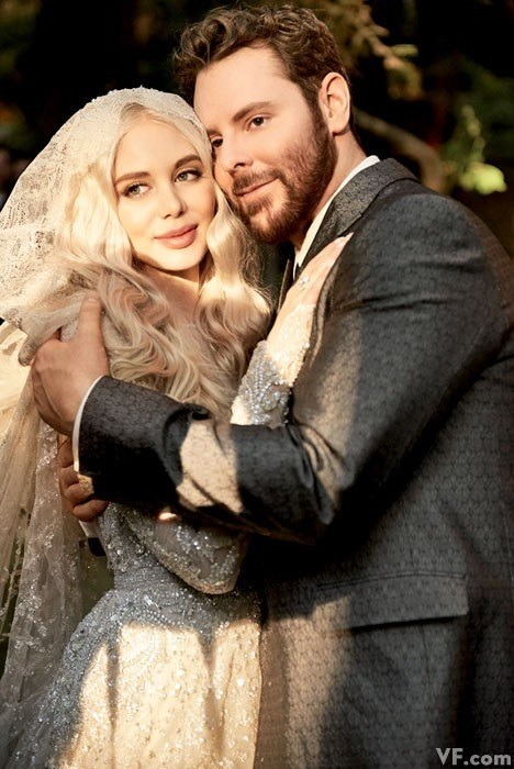 Sean Parker and Bride in Vanity Fair