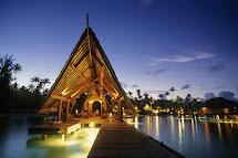 Bora Bora Resorts at Night