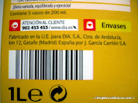 Zumo de naranja exprimida con pulpa DIA fabricado por DON SIMÓN