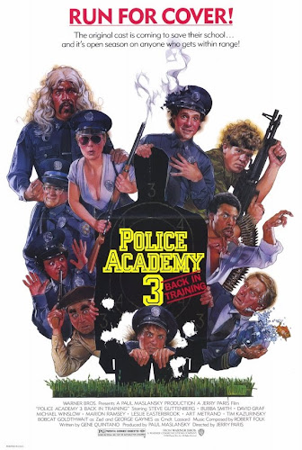 Poster Of Police Academy 3 1986 In Hindi Dual Audio Bluray 720P Free Download