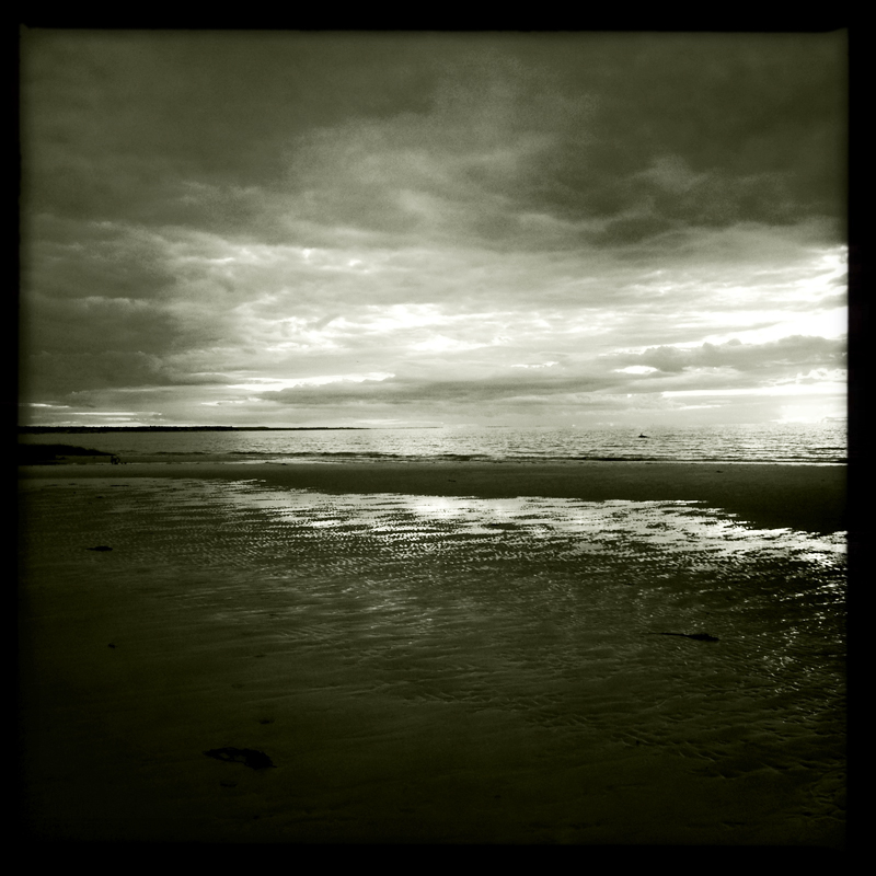 Black and white photograph of Skaket Beach, Orleans, Cape Cod by Karina Allrich. Taken with an iPhone 5.