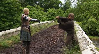 Brienne y jaime luchando - Juego de Tronos en los siete reinos