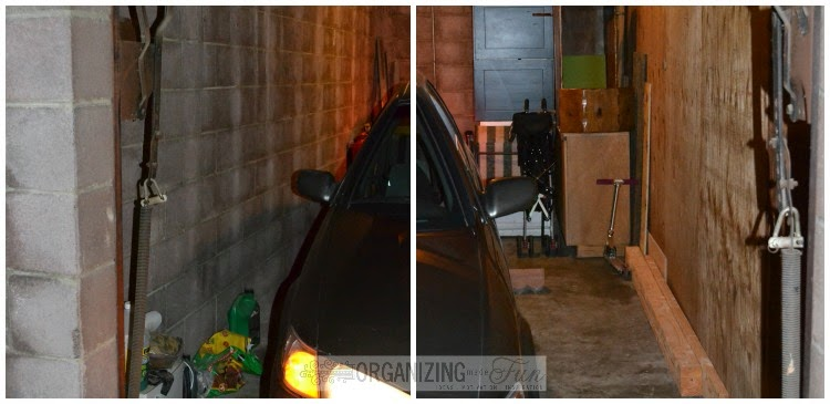 Both sides of garage before :: OrganizingMadeFun.com