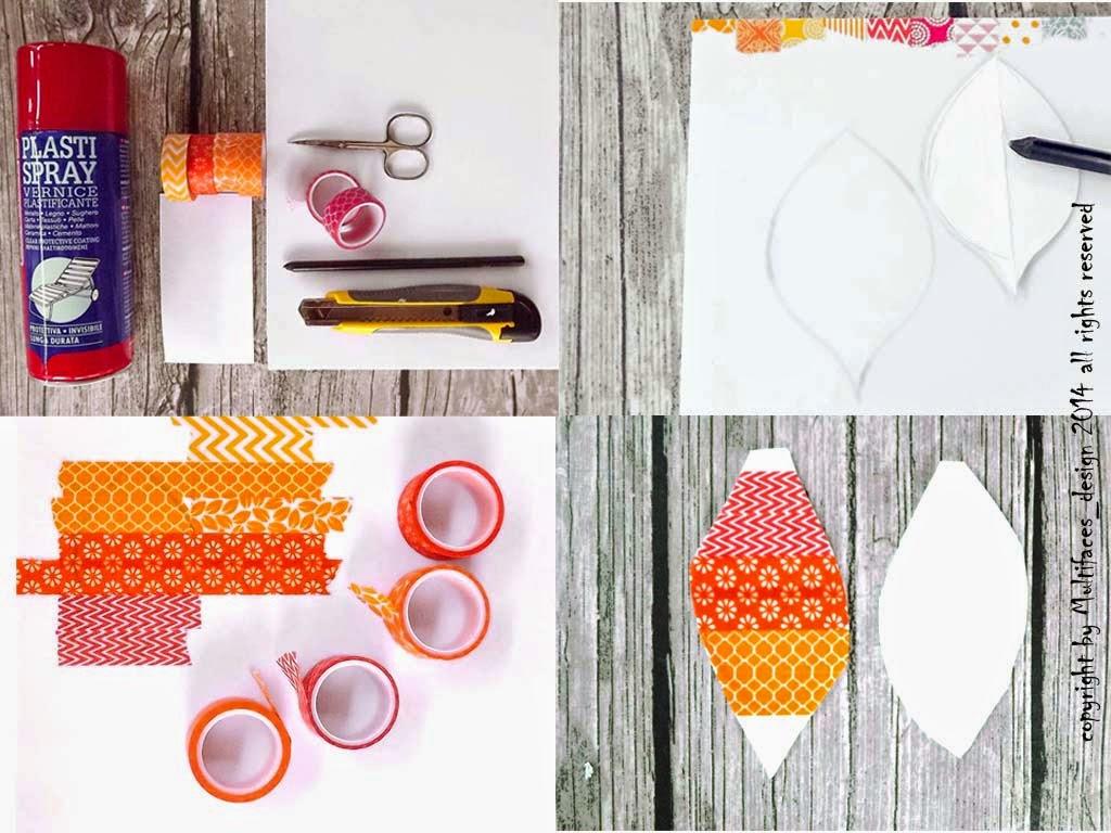 Creando tutorial orecchini leggeri dai colori autunnali for Marlen leroy