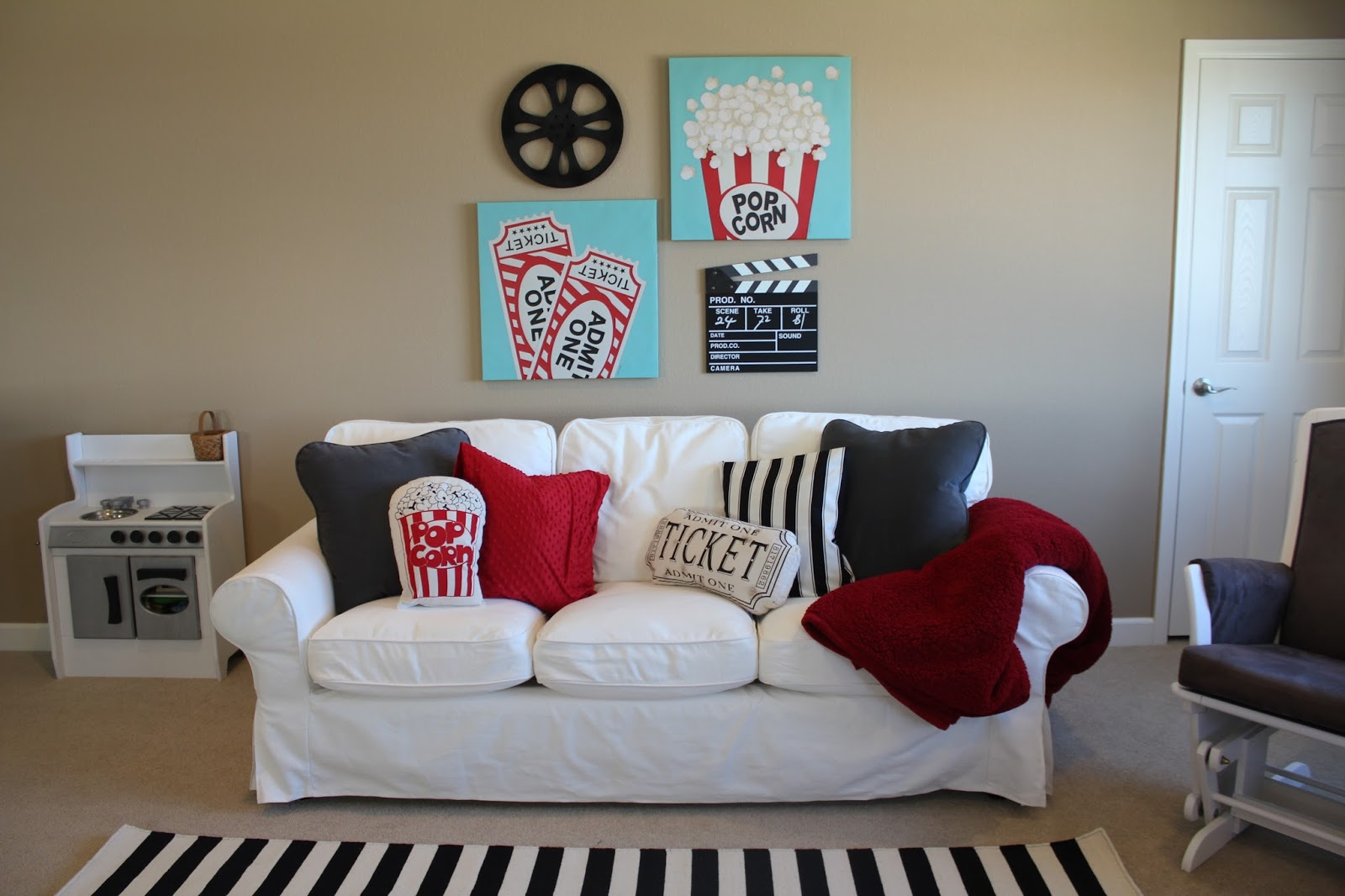 Movie Themed Living Room Sew In Love Movie Playroom Reveal