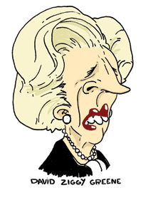Thatcher cartoon dzgreene