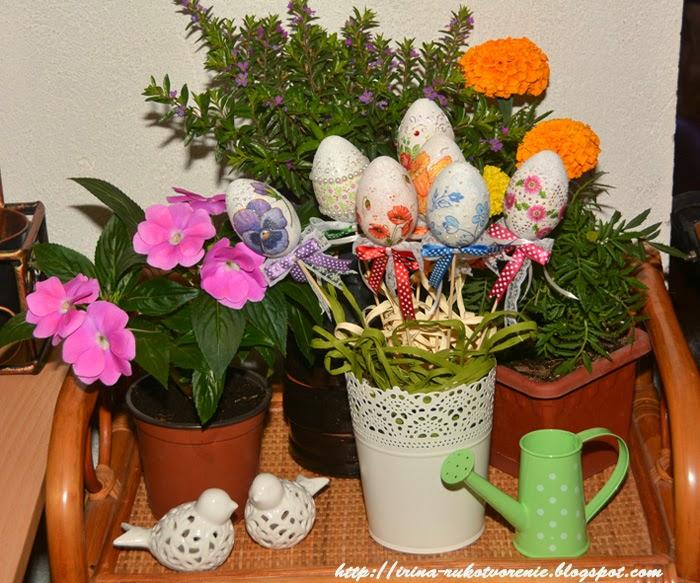 яйца, букет из яиц