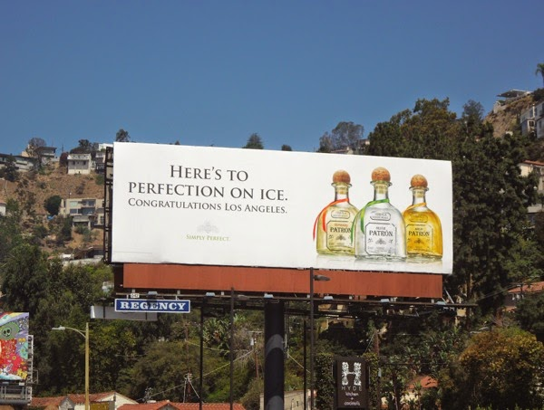 Patron perfection on ice Congratulations LA billboard