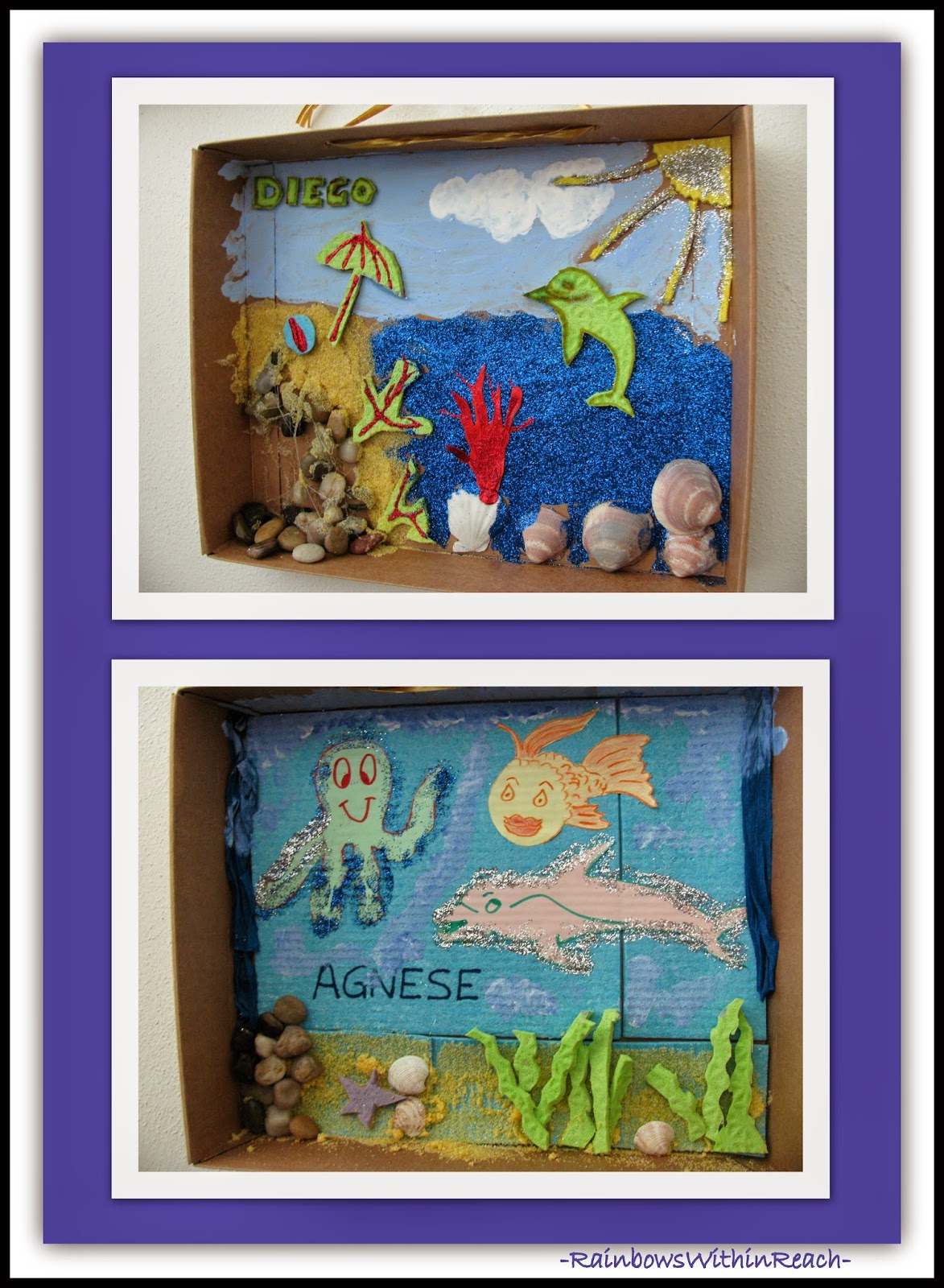 Ocean Dioramas from Reggio Emilia, Italy {Ocean RoundUP at RainbowsWithinReach}