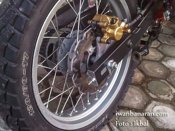 Modifikasi Honda CB150R Velg Jari-Jari belakang