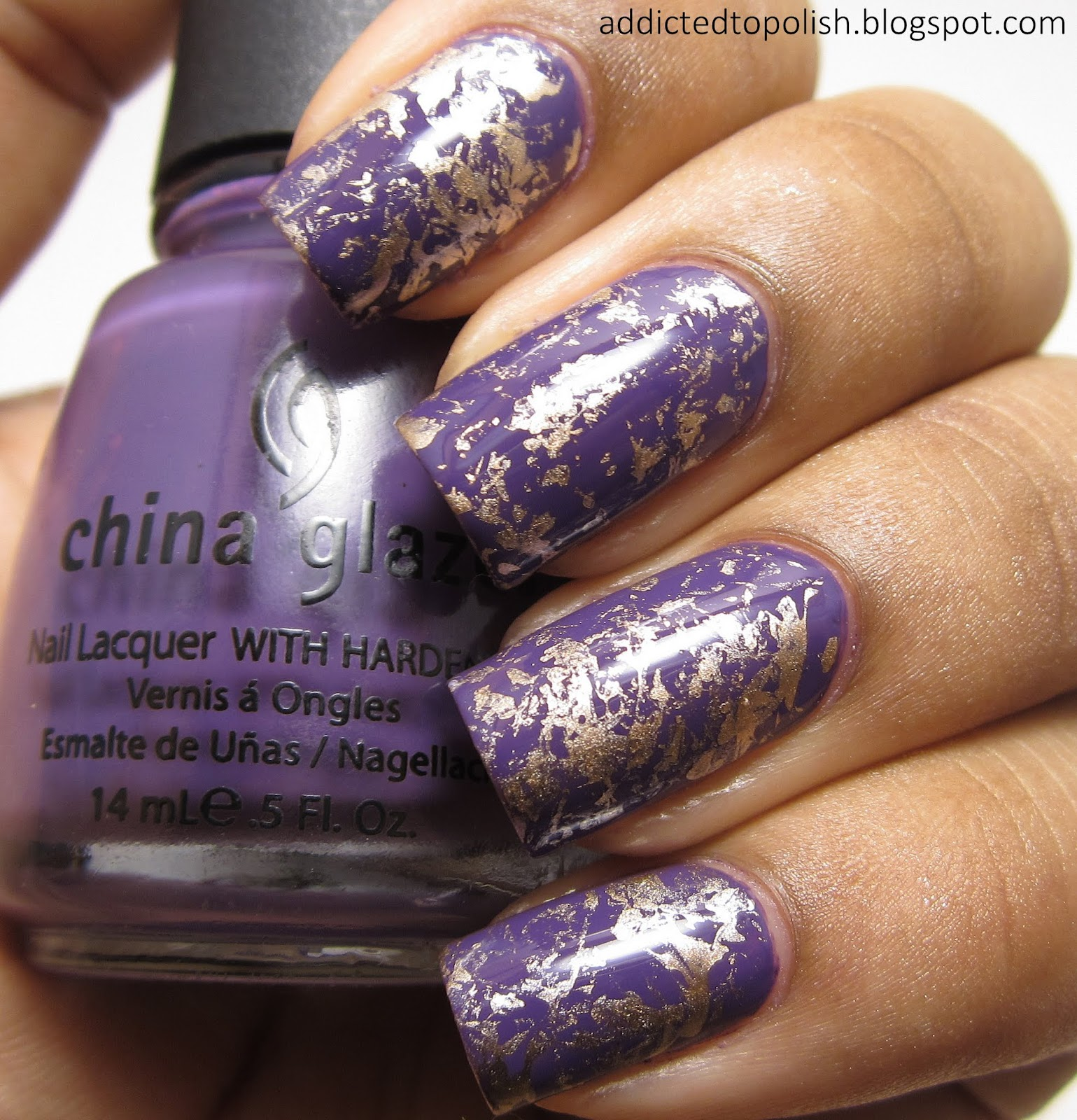 China-Glaze-Grape-Pop-2030-Saran-Wrap-Nail-Art