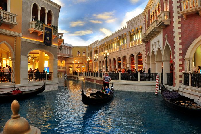 Casino with canals