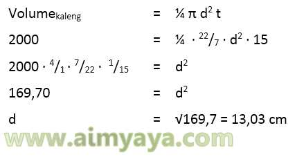 contoh 3: menghitung diameter tabung
