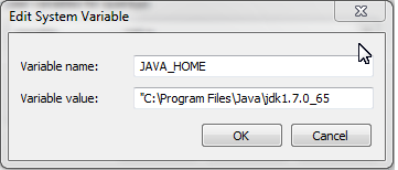 setting JAVA_HOME environmental variable