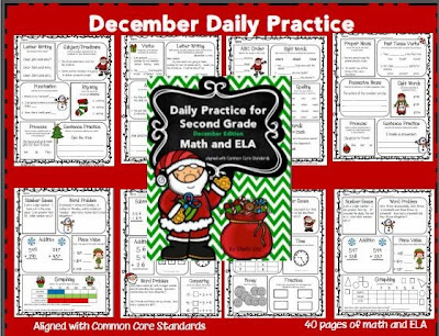 http://www.teacherspayteachers.com/Product/Daily-Practice-for-Second-Grade-December-997136