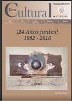 GUÍA CULTURAL de Córdoba -NOVIEMBRE 2016
